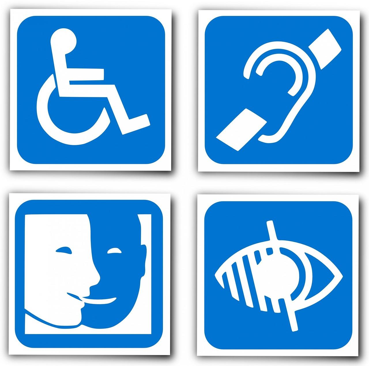 handicap, logo, deaf